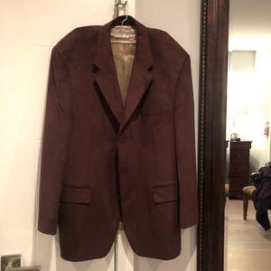 Lord & Taylor brown suede blazer